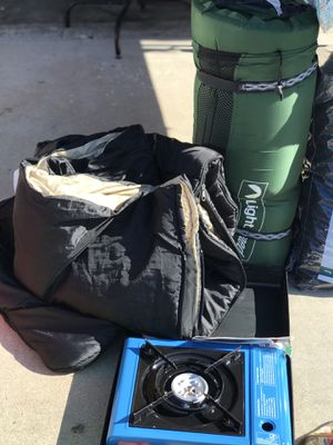 Camping Gear | 2 Sleeping Bags | Stove - Se habla español 🦋 for Sale in Chino, CA
