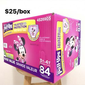 3T-4T Huggies Pullups Learning Designs (84 count) - $25/box for Sale in Anaheim, CA