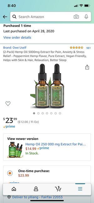 hemp oil brand new 2 pack for Sale in Fairfax, VA
