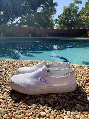 White slip on vans for Sale in Sarasota, FL