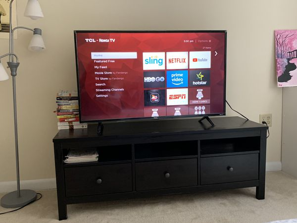 """TCL Roku TV 49"""" with TV Table"""