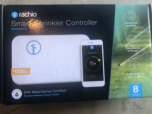 Rachio Smart Sprinkler Controller, 8 Zone -Works with Amazon Alexa Brand New Sealed for Sale in Oak Point, TX