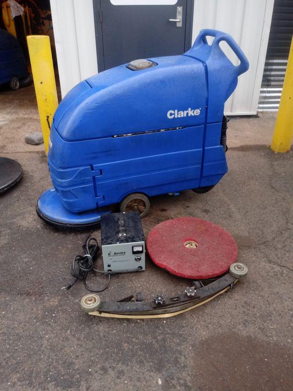 Clarke Encore S 20 Walk Behind 20 in Auto Floor Scrubber, W/ Battery Charger