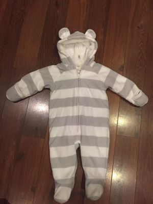 Old Navy baby coat fleece onesie - size 3-6 months for Sale in Buckeye, AZ