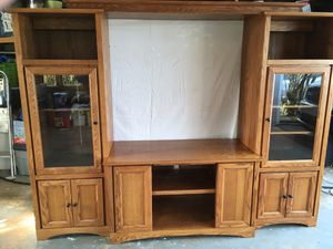Entertainment center for 60 inch diagonal wide tv for Sale in Marcus Hook, PA