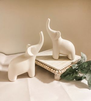 Two small ceramic elephants for Sale in Seattle, WA