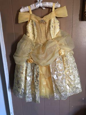 4T LIKE NEW DISNEY BELLE PRINCESS COSTUME DRESS for Sale in Riverside, CA