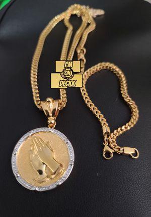 🚨🚨🚨 14k Gold plated Franco Chain set 🚨🚨🚨 I Deliver for Sale in Miami, FL