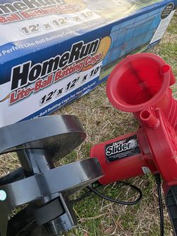 Heater Slider Pitch Machine/ Full Batting Cage And Jordan Baseball Clets for Sale in Jonesboro,  GA