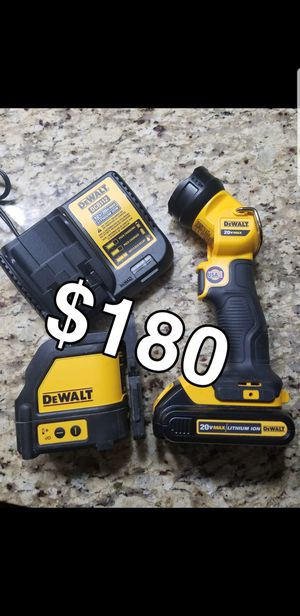 Dewalt laser + led 20v battery and charger for Sale in Aurora, IL