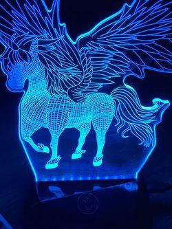 3D illusion Unicorn Lamp Light w/ remote control for Sale in Sacramento,  CA