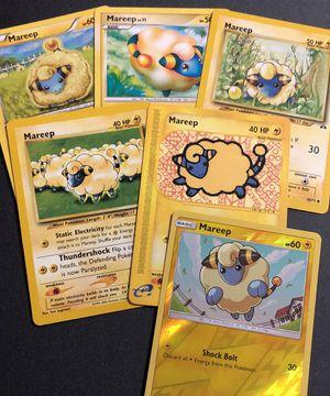 Mareep HOLO 3 Base Set 6 Pokemon Card Lot for Sale in Medford, MA