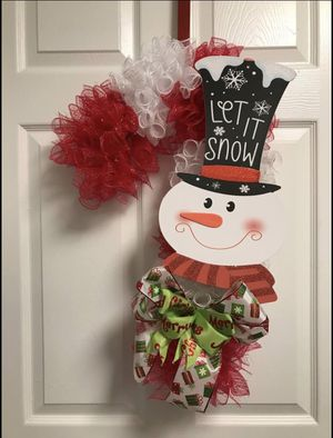 Candy Cane Christmas Wreath for Sale in Raleigh, NC