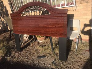 QUEEN BED FRAME-SOLID CHERRY WOOD for Sale in El Paso, TX