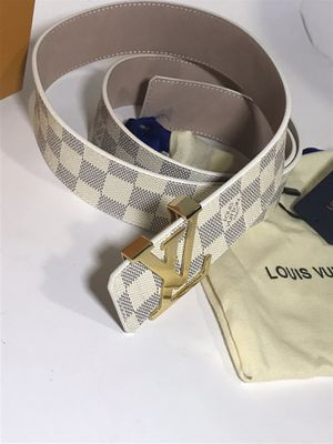 Louis Vuitton White Damier Azur Belt **XMAS SALE!! for Sale in Queens, NY