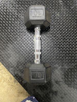 Single 10lbs rubber hex for Sale in Pico Rivera, CA
