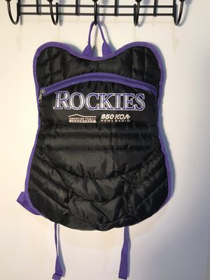Vintage RARE Colorado Rockies Catcher Backpack Baseball for Sale in Aurora, CO