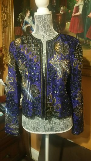 Gorgeous Heavy Beaded Adrianna Papell Evening Jacket for Sale in San Diego, CA