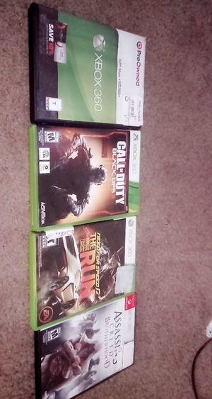 4 video games for Xbox 360 like new. for Sale in Marietta, GA