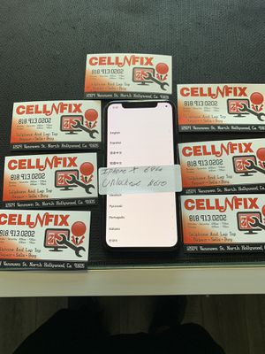 iPhone X 64gb unlocked t-mobile metro pcs cricket AT&T for Sale in Los Angeles, CA