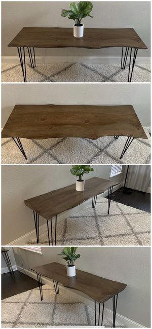6FT x 2FT Solid Wood Rustic Modern Industrial Live Edge Dining Table for Sale in Stockton, CA