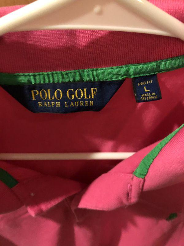 Pink Polo Ralph Lauren Golf Shirt