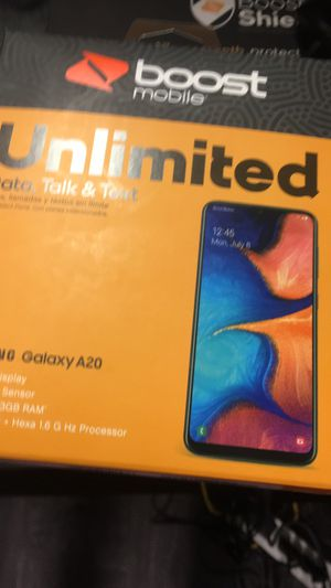 Brand new phone come get it today Samsung A20. Only at boost mobile for Sale in Hollywood, FL