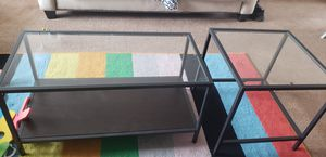 Two set Glass coffee table for Sale in COLORADO SPRINGS, CO