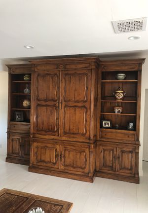 Gorgeous Media wall unit solid wood for Sale in Oakland Park, FL