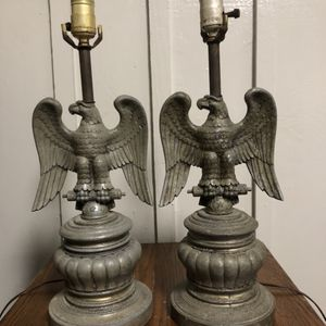 Mid Century Pair Of Eagle Table Lamps for Sale in Villa Rica, GA