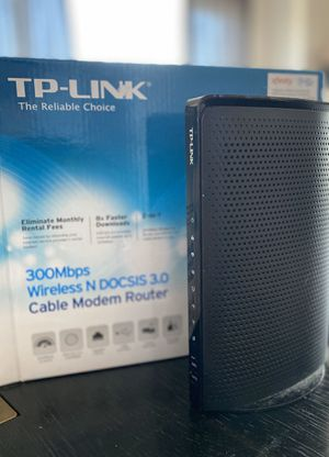Wireless Cable Modem Router TP-Link TC -W7960 300Mbps (2in1) for Sale in Union City, NJ