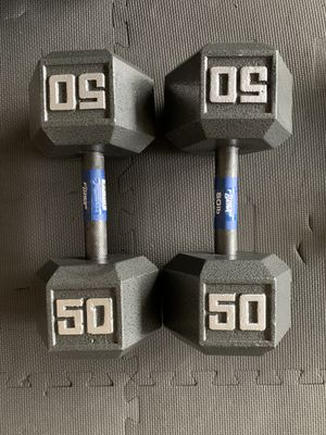 Brand New 50lb hex dumbbell weights! (Pair) for Sale in Tacoma, WA