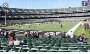 Jaguars vs raiders 2nd row black hole for Sale in Fremont, CA
