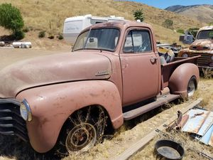 53 Chevy PU street rod project with 4 cyl 4BT cummins and S10 frame sale or trade for Sale in Agua Dulce, CA