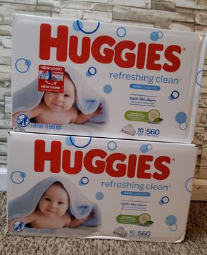 2 box Huggies Wipes for Sale in Blaine, MN