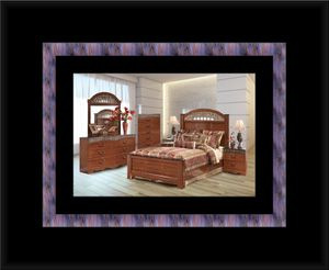 11pc Ashley cherry bedroom set with mattress for Sale in Chevy Chase, MD