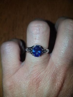 Sterling silver blue sapphire ring size 7 for Sale in Dundalk, MD
