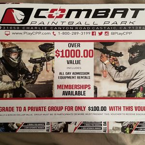 Combat Paintball Tickets for Sale in Riverside, CA