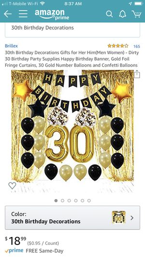 Party supplies for 30th birthday for Sale in Norwalk, CA
