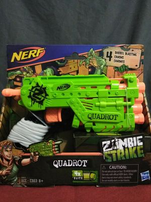 Nerf gun zombie strike quadrot for Sale in Norwich, CT