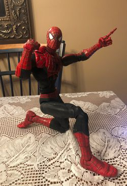 Poseable fully articulated Spiderman Action Figure for Sale in Thompsonville,  MI