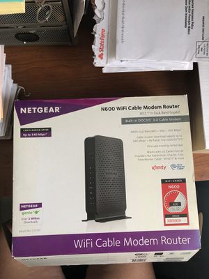 NETGEAR WiFi Cable Modem Router N600 for Sale in Whittier, CA