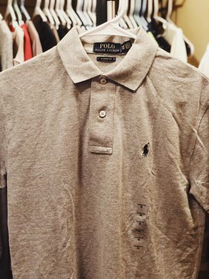 NEW MENS RALPH LAUREN POLO SHIRT XS GRAY for Sale in Tucson, AZ