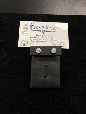 14k White Gold diamond stud earrings for Sale in Oak Park, IL