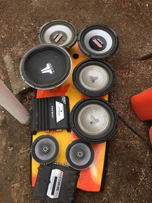 Sound system,jl audio,alpine, amplifier for Sale in El Cajon, CA