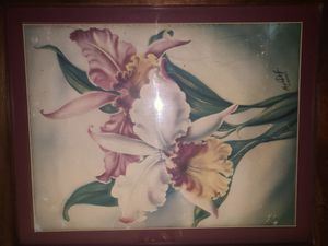 Original 1950s Mundorff Hawaiian Paintings Koa Wood frame for Sale in Mililani, HI