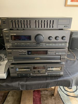 Technics component stereo system /with turntable and speakers for Sale in Willoughby Hills, OH