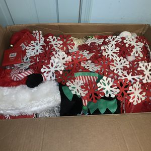 Box Of Christmas Decor For 1 Price for Sale in Fort Worth, TX