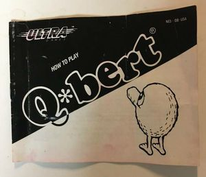 Q*bert Qbert Nintendo NES Video Game Instruction Manual Booklet Guide for Sale in Queens, NY
