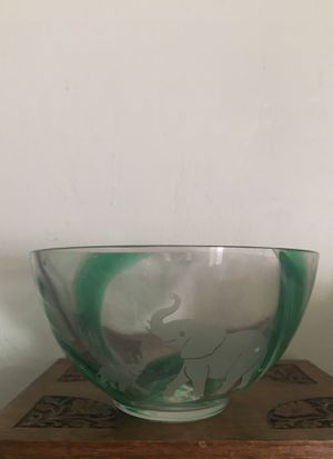 Antique Glass bowl hand made for Sale in Las Vegas, NV